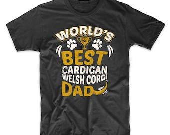 World's Best Cardigan Welsh Corgi Dad Dog Owner Graphic T-Shirt