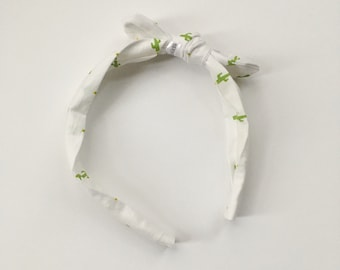You Pick the Size - Cactus Headband - removable bow!