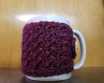 Purple Button Up Mug Cozy