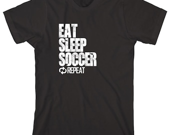 Eat Sleep Soccer Repeat Shirt - sports, futbol, little league, high school sports, college sports - ID: 1116