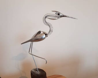 A wild bird sculpture