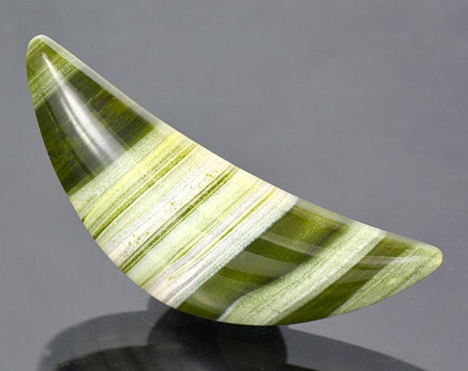 Beautiful Green Banded Ricolite Cabochon from New Mexico 48.09 cts.