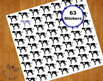 Great Dane Stickers, 63, Great Dane Sticker Set, Great Dane Envelope Seals, Great Dane Envelope Stickers, Great Dane Scrapbook Stickers