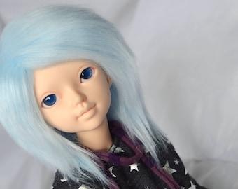 BJD Wig - Faux Fur 7-8 Frozen Blue