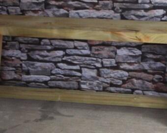 Narrowing Legged Garden Bench