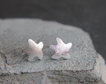 Starfish Earrings Sterling Silver Maritime
