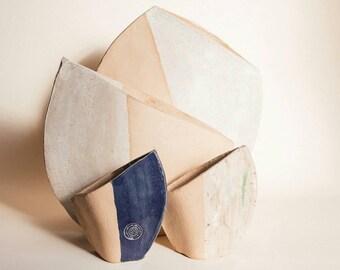 Vases in stoneware / ceramic / Handmade.