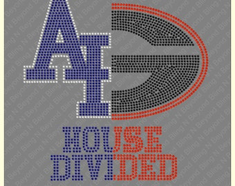 Custom House Divided Shirts.. You give us the logos and we make the bling - Airforce - Georgetown