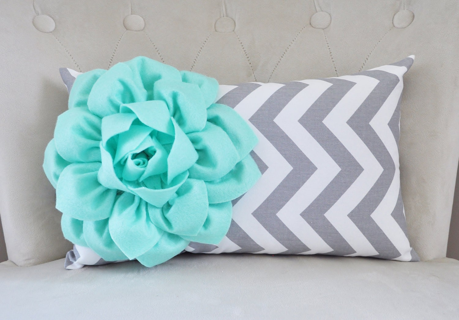 Throw Pillow Mint Cover Mint Green Pillow Decorative