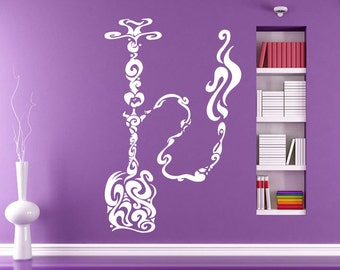 Wall Decal Room Sticker Hookah Bar Old Fashion Smoking Tobacco Flavor  bo2996