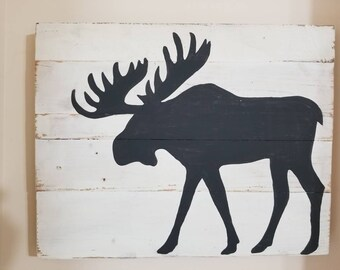 Rustic Moose Silhouette