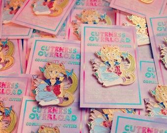 LIMITED ed. SAILOR MOON new enamel pin!!! Sailor Senshi Moon S Crisis holding newborn baby Hotaru Child glitter butterflies