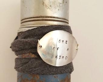 Wrap Bracelet / One Size Fits All / One of a Kind / Spoon Bracelet / Bracelet / Vintage Spoon / Silverware Jewelry / Repurposed Silverware
