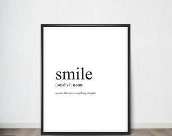 Smile Inspirational Quote, Art Print, Quote, Inspirational Quote Print, Digital Art, Digital Art Print, Digital Artworks
