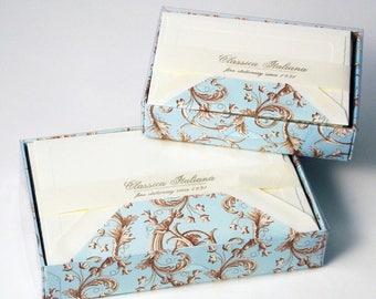 Baroque Flowers Italian Letterpress Notecards