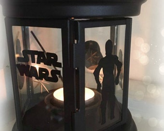Star Wars Inspired Lantern, Tea light Holder,  Lantern, Candle Glow Gift set