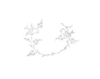 PDF pattern download vintage bluebird embroidery pattern