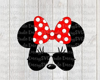 SVG DXF File for Minnie with Sunglasses