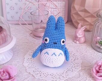 Totoro Azul Amigurumi : Conjunto totoro bebe gorro patucos totoro recien nacido