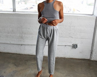 70s 80s Heather Grey Sweatpants