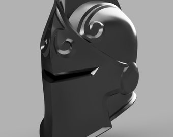 Black Knight Helmet Fortnite STL file