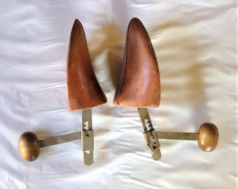 Vintage Wood Shoe Stretchers - Set of Two