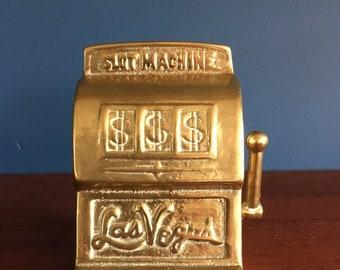 Las Vegas Casino Slot Machine-gokmachine of yellow brass-Brass