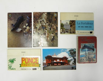 Vintage Postcards Puerto Rico.  Lot of 5+