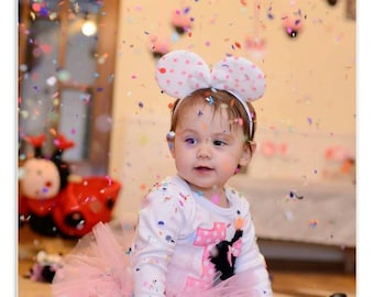 1 Year Old Birthday Girl, Baby Girl Mouse set, baby anniversary gift, baby gift, baby set, GAMMAkids, PHOTOPROP