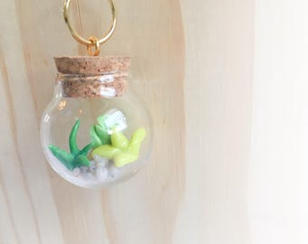 Boho Necklace - Succulent Necklace - Succulent Terrarium- Polymer Clay Jewelry - Terrarium Necklace