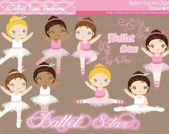Ballet clipart, Ballerina clipart / tutu clipart ,Ballet Digital Clipart, (CG012) Personal and Commercial Use / INSTANT DOWNLOAD