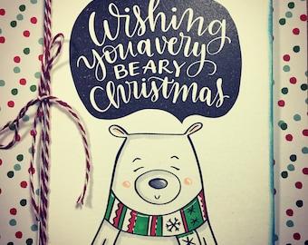 Christmas Bear Handmade Card