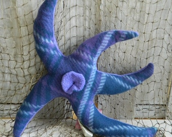 Plush stuffed starfish, nautical baby stuff, under the sea, stuffed sea animals, aquatic creature, aquatic home decor, beach decor