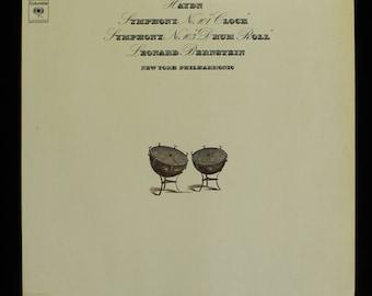 Haydn Leonard Bernstein New York Philharmonic Symphony No. 101 No. 103 LP