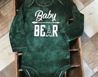 Free Shipping* Baby Bear Tee Pee Hand Dyed Bodysuit