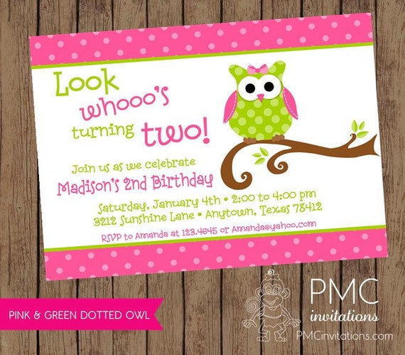 Cute owl birthday party invitation 100 each with envelope stopboris Image collections