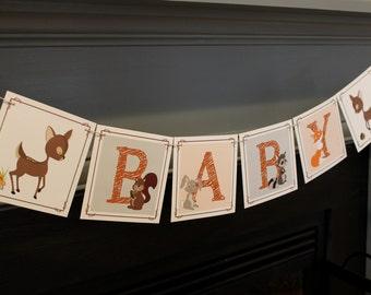 Woodland Baby Shower Banner