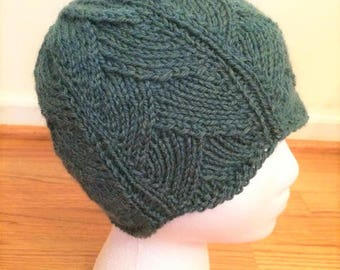 Art Deco Hat ~ Hand Knitted Hat