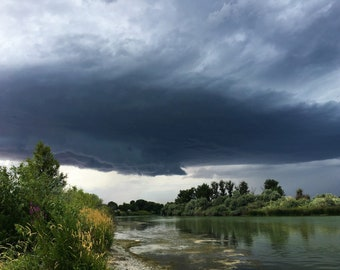 Summer Storm over the river, Idaho