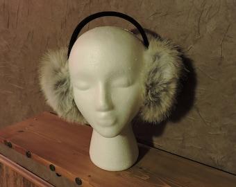 Coyote Fur Earmuffs -  EarMuffs - Real Fur Earmuff - Authentic Coyote Fur - AK Creations Designs - Coyote Fur - Fashion Earmuffs - Coyote
