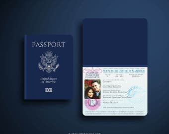 GINA Nautical Passport and Boarding Pass Destination Wedding Invitation