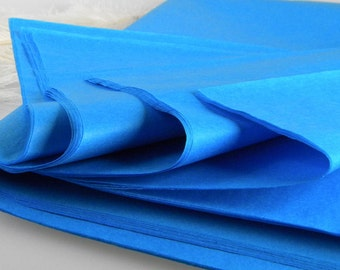Turquoise Tissue Paper | Blue | 24 Sheets | Gift Wrap Tissue Idea | Favor Box Packaging | DIY Pom Pom Supplies | Beach Wedding Supplies