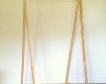 Adult Clothes Rack, Wooden Clothing Rack, Costume Rack, Clothes Hanger, Clothes Stand, Shop Display, Clothing Rail, Market Display Rack