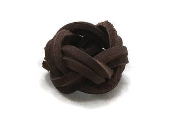 2-strand Leather Turk's Head Neckerchief Woggle