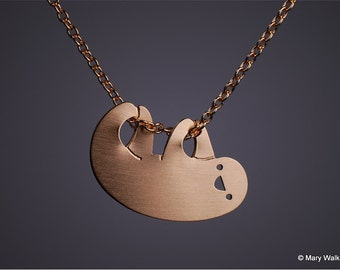 Little Sloth Necklace Gold