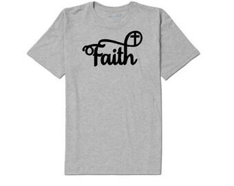 Faith Cross Religious Unisex T Shirt Many Sizes Colors Custom Faith Christian Jenuine Crafts
