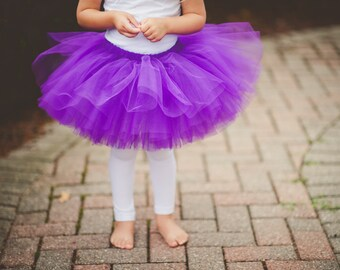 Purple tutu- tulle skirt- very full- dance tutu- dress up-any size 2t 3t 4t 5/6 7/8 9/10