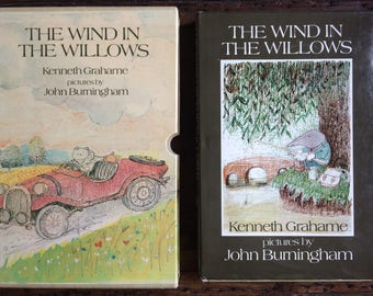 Vintage Wind in the Willows by Kenneth Grahame illustrations by John Burningham -vintage 1983 boxed hardback edition