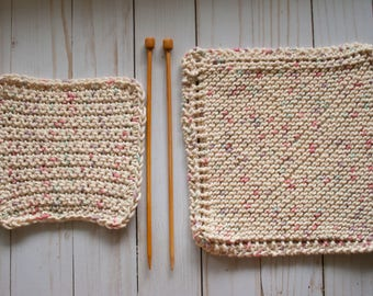 100% Cotton Dish Cloths / Knit & Crochet