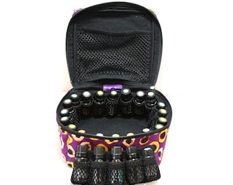 Essential Oil Case Holds 20-30-40+ Bottles Essential Oil Bag - Choose your fabric - set 1